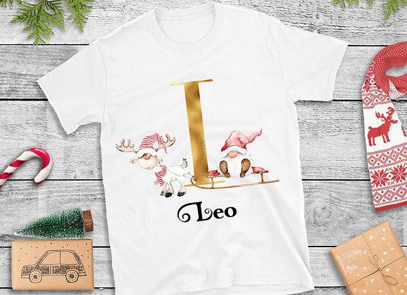 Ladies personalised Christmas Gnome T-Shirt