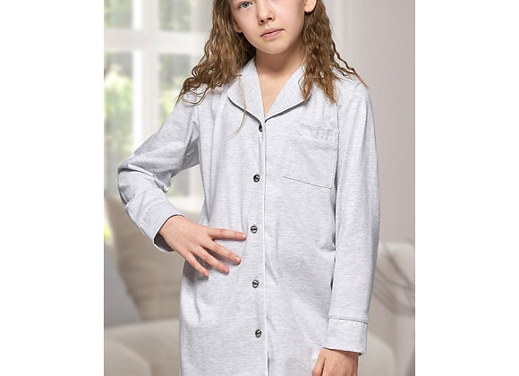 Alexa Grey cotton nightshirt- child