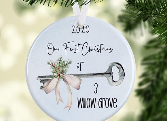 First Chrismas at.....Tree ornament