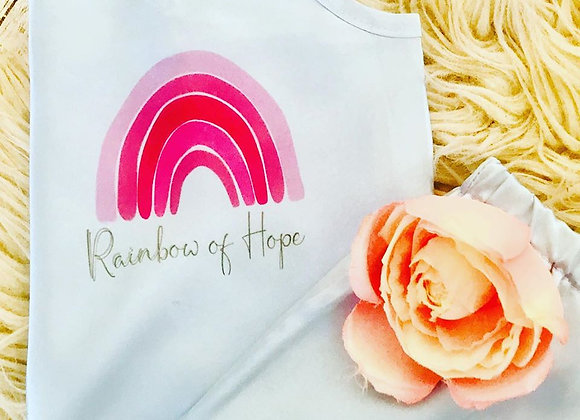 Pink rainbow of hope charity cami set- Adult