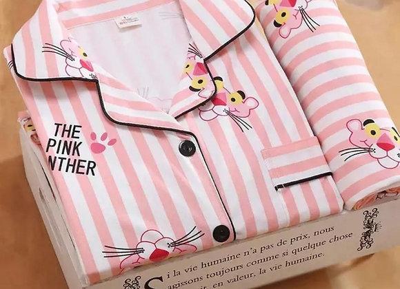 LadiesPink Panther personalised pyjamas