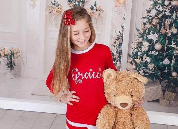Candy cane family festive pjs- Child