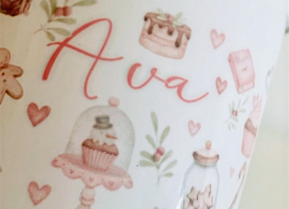 Christmas bakery enamel   mug