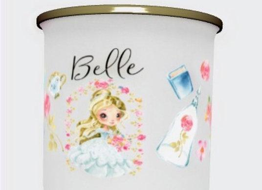 Blonde Princess  Belle personalisedenamel mug