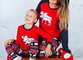 Family festive moose Pjs