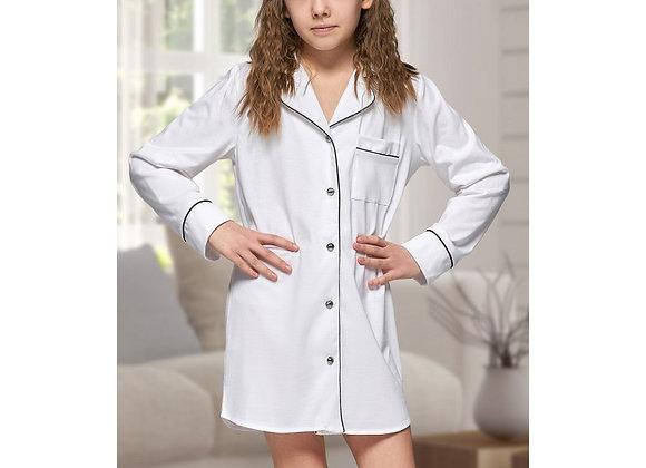 Alexa white cotton nightshirt- child