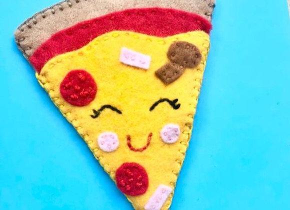 sew a pizza bookmark kit