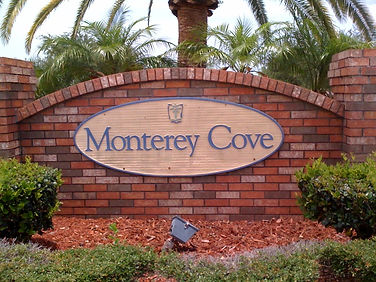 Monterey Cove entrance sign