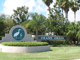 Crane Creek entrance sign