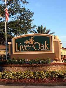 Live Oak entrance sign