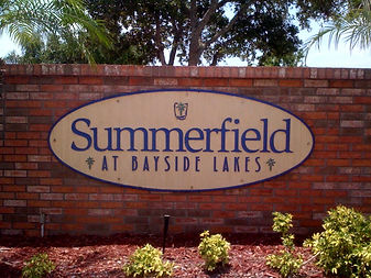 Summerfield entrance sign