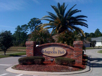 Magnoli Park entrance sign