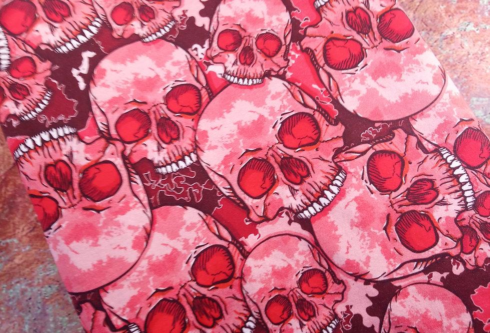 PINK SKULLS - COTTON JERSEY