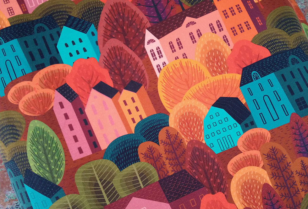 AUTUMN VILLAGE - COTTON JERSEY