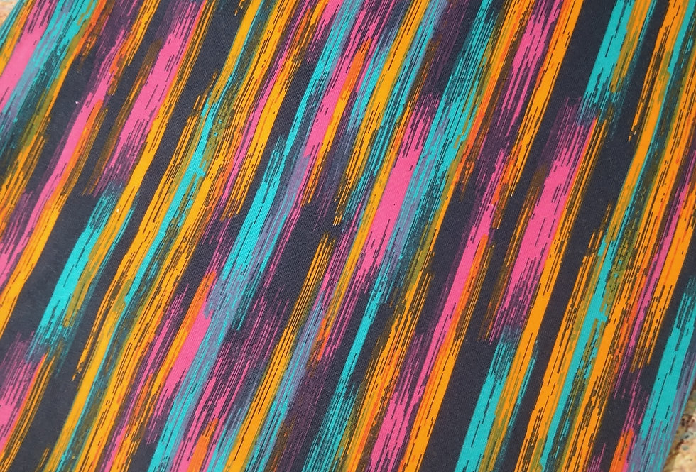 ABSTRACT STRIPED  - COTTON JERSEY
