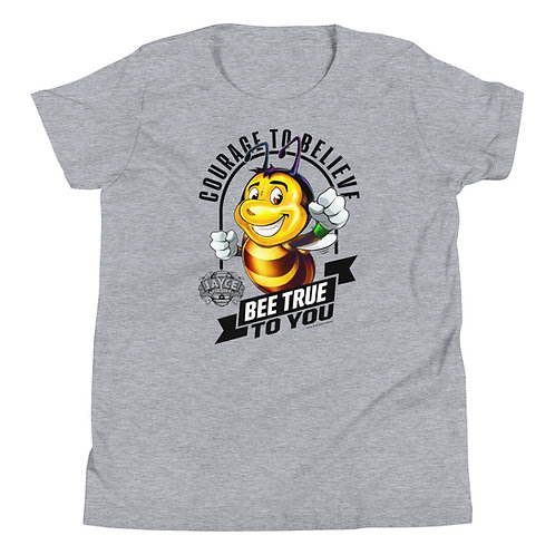 JAYCE THE BEE: Courage To Believe Youth Short Sleeve T-Shirt