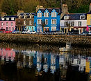 Tobermory homes in Scotland.