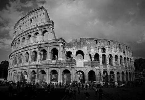 _E7A5516 Colosseum with light B&W web ready.jpg