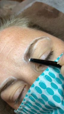 Drawing the Brow outline
