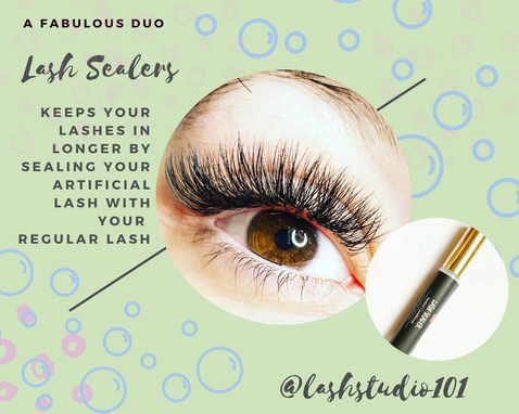 Lash Sealers seal in the lashes for longevity