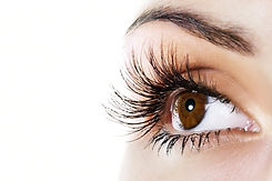 Woman-brown-eye-with-extremely-long-eyel