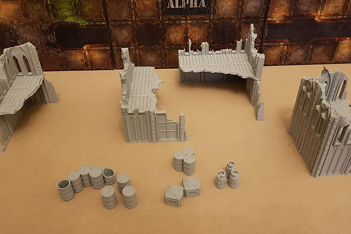 Small Gothic ruins set