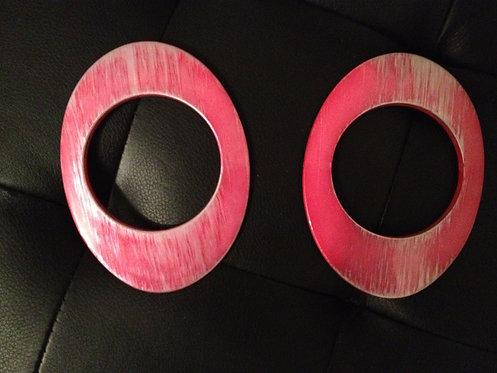 Nubian Shape Pink Bracelet Pair