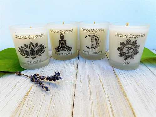 Meditation & Relaxtion Candle Set (4 scents)