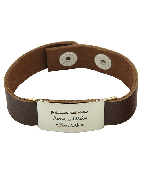 Brown Leather Buddah Inspired Bracelet