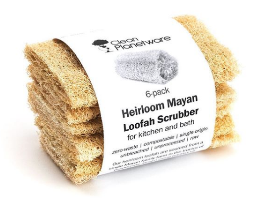 Heirloom Mayan Loofah Scrubber - For Kitchen & Bath (6 pack)