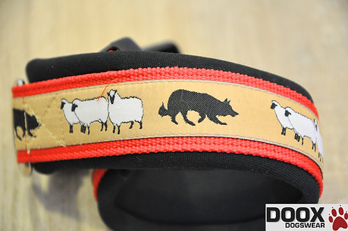Halsband SHEEP BORDER red