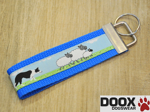 Schlüsselanhänger SHEEP BORDER blue
