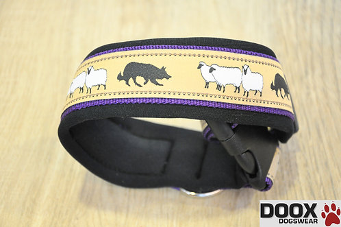 Halsband SHEEP BORDER purple