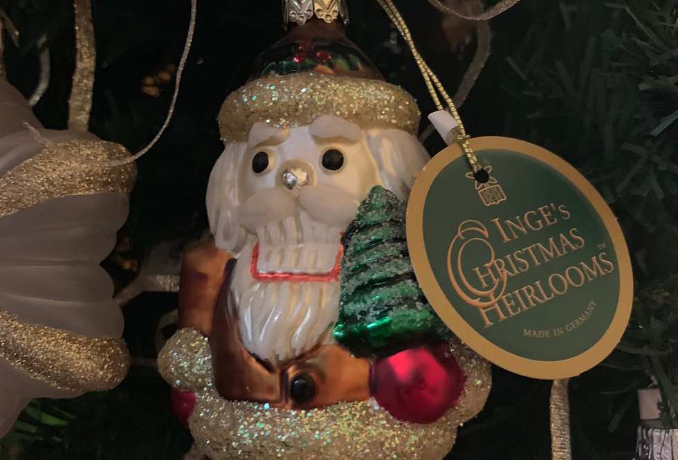Santa Clause with Christmas Tree, Inge's Christmas Heirlooms
