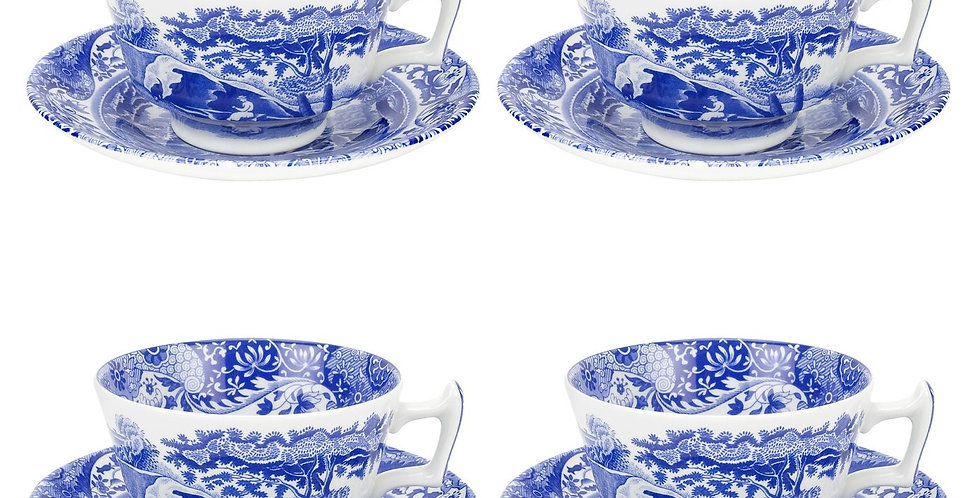 Spode Blue Italian Teacup and Saucer,individually