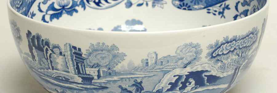 Spode Blue Italian Round Serving Bowl 9""