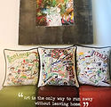 """Cat Studio"" Hand embroidered pillows!!!"