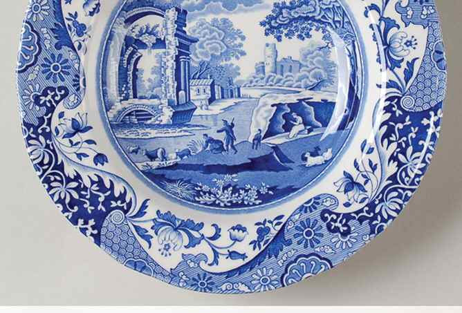 Spode Blue Italian Rim Soup Bowl