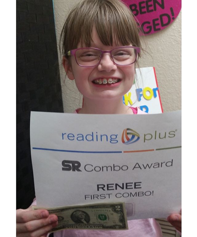 Renee's first Combo in Reading Plus!