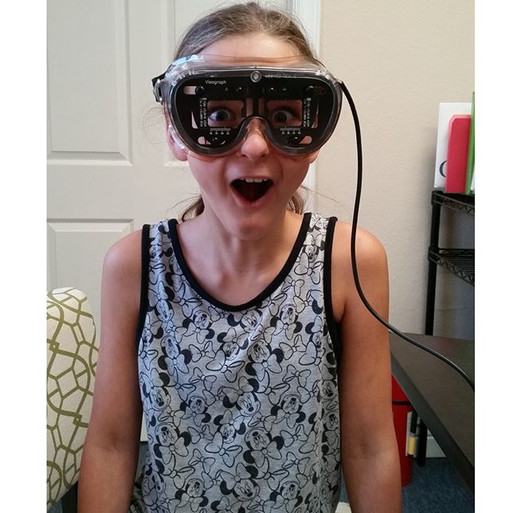 Sweet Bethany having fun with the Visagraph!