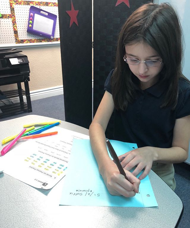 Kaitlyn is working on finding patterns.