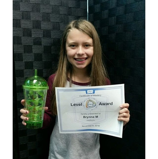 Brynna Levels Up in Reading Plus!