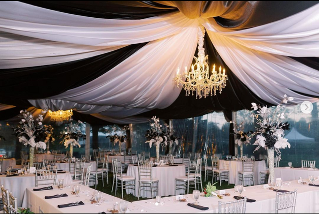Drapery: Lauren Elens with Events Plus, Inc | Lighting: Bright Event | Tent rental: Music City Tents and Events