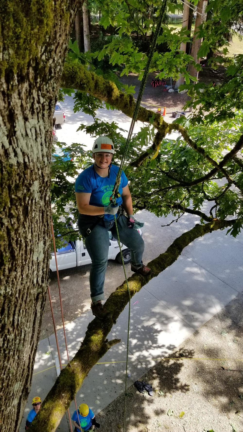 Amber climbing on!  PNW-ISA WTCW 2018