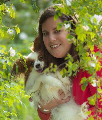 Natascha Van der Eecken, gérante du salon de toilettage et de massage canin