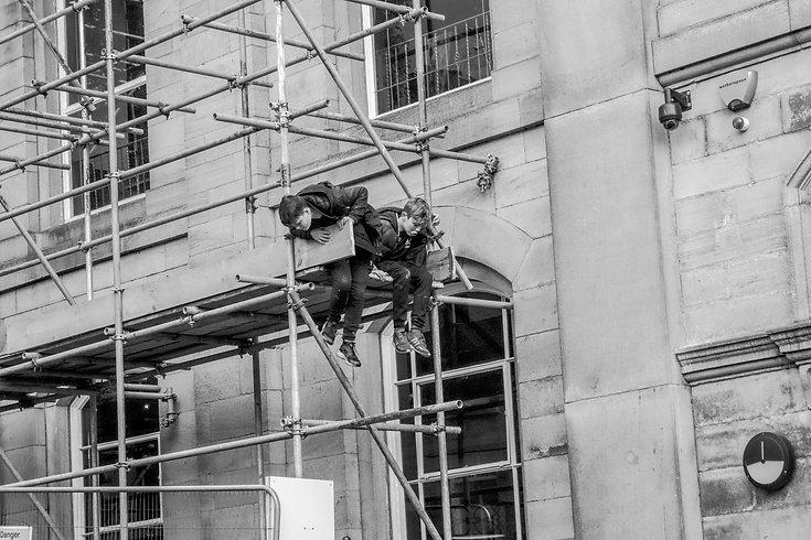 Darwen Kids on scaffolding.jpg