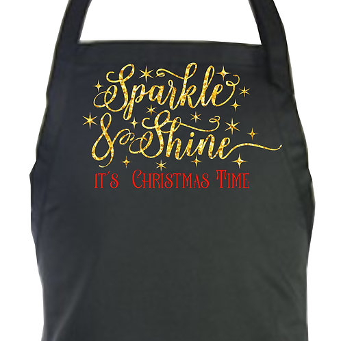 Sparkle and Shine It's Christmas Time Apron