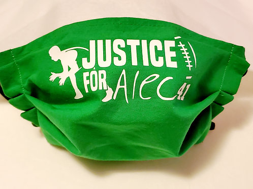 Justice for Alec Face Mask
