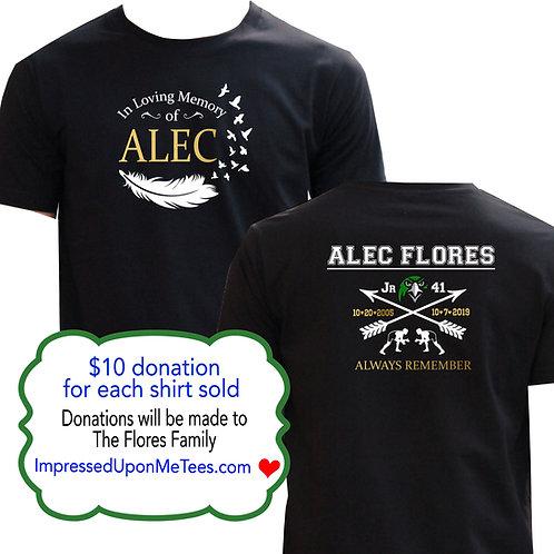 Honoring Alec Flores Memorial shirt