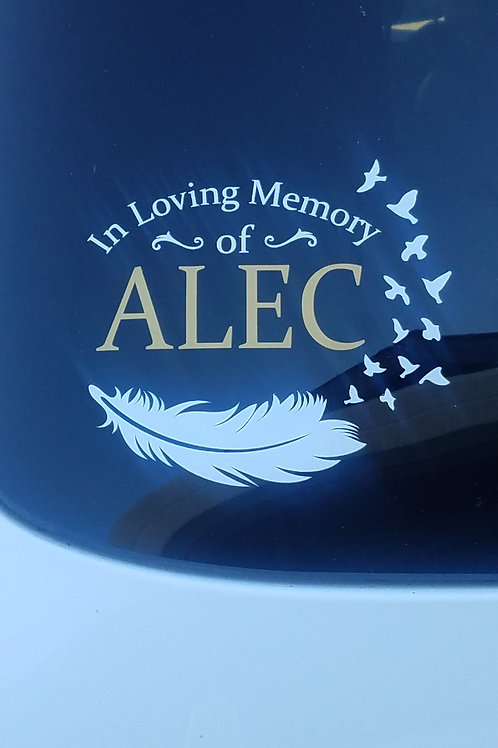 Honoring Alec Auto Window Decal